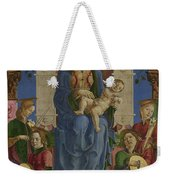 The Virgin And Child Enthroned Weekender Tote Bag