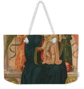 The Virgin And Child Enthroned With Angels Weekender Tote Bag