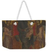 The Virgin And Child Enthroned With Two Angels Weekender Tote Bag