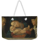 The Virgin And Child With Four Saints Weekender Tote Bag