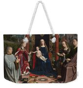 The Virgin And Child With Saints And Donor Weekender Tote Bag