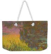 The Water Lilies, Setting Sun Weekender Tote Bag
