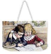 Thomas Nast: Christmas Weekender Tote Bag by Granger