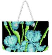 Three  Blue Irises Weekender Tote Bag