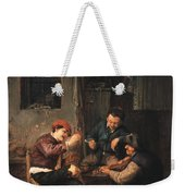 Three Peasants At An Inn Weekender Tote Bag