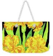 Three Yellow Irises, Painting Weekender Tote Bag
