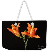 Tiger Lily Flower Opening Part Weekender Tote Bag