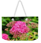 Tiny Pink Spirea Flowers Weekender Tote Bag