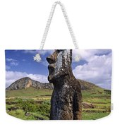 Tongariki Moai On Easter Island Weekender Tote Bag