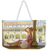 Tourist Woman In Coimbra Weekender Tote Bag