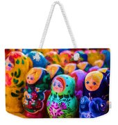 Family Of Mother Russia Matryoshka Dolls Oil Painting Photograph Weekender Tote Bag