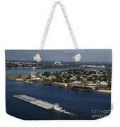 Transportation - Shipping On The Mississippi River Weekender Tote Bag