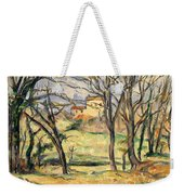 Trees And Houses Near The Jas De Bouffan Weekender Tote Bag