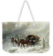 Troika In A Blizzard Weekender Tote Bag