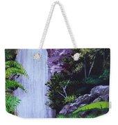 Tropical Waterfall Weekender Tote Bag
