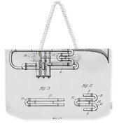 Trumpet Patent From 1919 Weekender Tote Bag