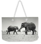Trunk Pumping Elephants Weekender Tote Bag