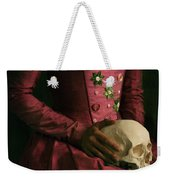 Tudor Woman Holding A Human Skull Weekender Tote Bag