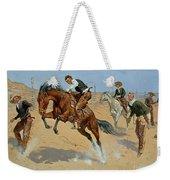 Turn Him Loose Weekender Tote Bag by Frederic Remington