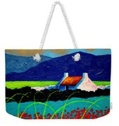 Turquoise Meadow And Poppies Weekender Tote Bag