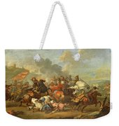 Two Battle Scenes Between Christians And Saracens Weekender Tote Bag