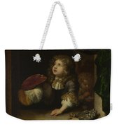 Two Boys Blowing Bubbles Weekender Tote Bag