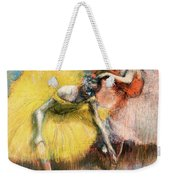 Two Dancers In Yellow And Pink Weekender Tote Bag
