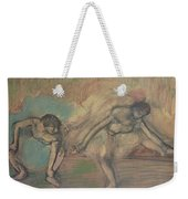 Two Dancers Resting Weekender Tote Bag by Edgar Degas