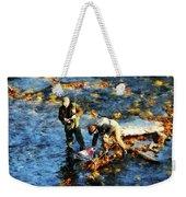 Two Men Fishing Weekender Tote Bag