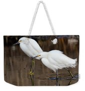 Two Snowy Egrets Weekender Tote Bag
