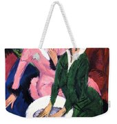 Two Women With A Washbasin Weekender Tote Bag