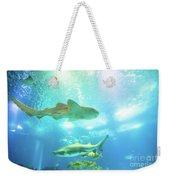 Undersea Shark Background Weekender Tote Bag