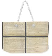 United States Constitution, Usa Weekender Tote Bag