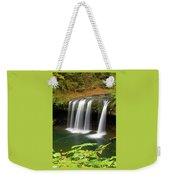 Upper Butte Creek Falls In Autumn Weekender Tote Bag