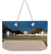 U.s. World War II Memorial Weekender Tote Bag