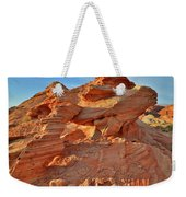 Valley Of Fire Arch At Sunrise Weekender Tote Bag