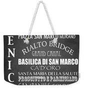 Venice Famous Landmarks Weekender Tote Bag