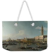 Venice   The Basin Of San Marco On Ascension Day Weekender Tote Bag