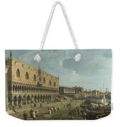 Venice   The Doges Palace And The Riva Degli Schiavoni Weekender Tote Bag