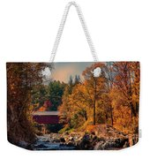 Vermont Covered Bridge Over The Dog River Weekender Tote Bag