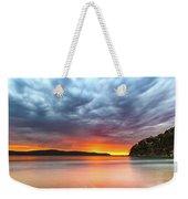 Vibrant Cloudy Sunrise Seascape Weekender Tote Bag
