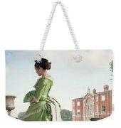 Victorian Woman In A Green Dress Weekender Tote Bag