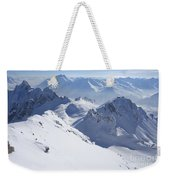 View From Summit Of Valluga, St Saint Anton Am Arlberg Austria Weekender Tote Bag