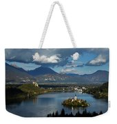 View Of Lake Bled From Ojstrica Weekender Tote Bag