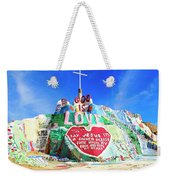 View Of Salvation Mountain Weekender Tote Bag