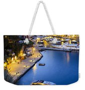 View Of The Harbour At Dusk  Portofino Weekender Tote Bag
