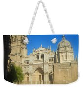 View Of Toledo Cathedral In Sunny Day, Spain. Weekender Tote Bag