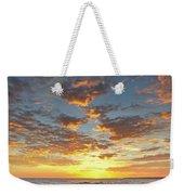 Gale Beach At Sunset. In Algarve Weekender Tote Bag