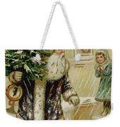 Vintage Christmas Card Weekender Tote Bag