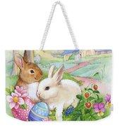 Vintage Easter Bunnies Weekender Tote Bag